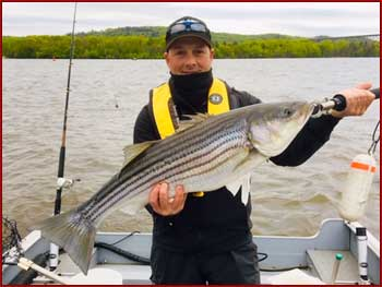 Fishing trip Hudson river reel happy fishing charters